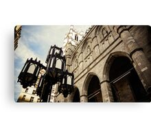 Metal and Stone Canvas Print