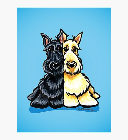 Two of a Kind Scotties Photographic Print