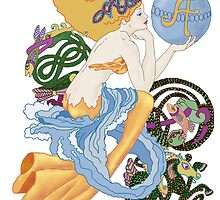 "Celtic ""A""for Aquarius  Mermaid by redqueenself"