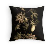 Passiflora Antique Throw Pillow