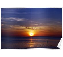Sunset on Seven Mile Beach Poster