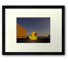 Rubber Ducky Hero Framed Print