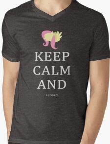 My Little Pony - Keep Calm and - Fluttershy Mens V-Neck T-Shirt