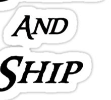 Keep calm and Ship Thilbo Sticker