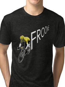 Chris Froome Tour de France 2013 Winner Sky Cycling Tri-blend T-Shirt