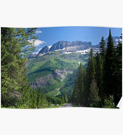 Entering Glacier National Park Poster