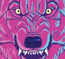"""Feed Me Cupcakes!"" Pink Werewolf Sticker"