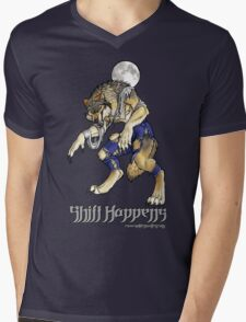 """Shift Happens"" Full Moon Werewolf Mens V-Neck T-Shirt"