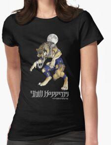 """Shift Happens"" Full Moon Werewolf Womens Fitted T-Shirt"
