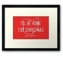 Home for Christmas (Ohio) Framed Print
