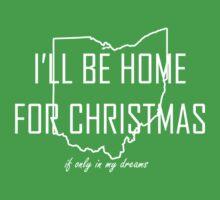 Home for Christmas (Ohio) Baby Tee