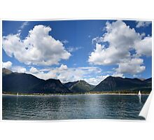 Mountain Lake In Summer Poster