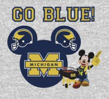 Michigan Wolverines with Mickey Mouse by sweetsisters