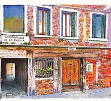 Sotoportego de la Pasina Venice Italy by Dai Wynn