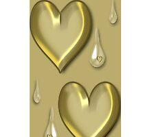 GOLDEN HEART TEARDROP IPHONE CASE by ✿✿ Bonita ✿✿ ђєℓℓσ
