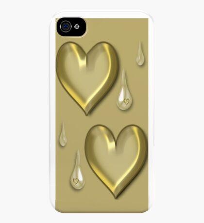 GOLDEN HEART TEARDROP IPHONE CASE iPhone Case/Skin