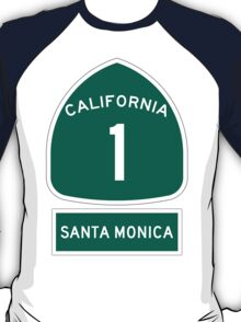 PCH - CA Highway 1 - Santa Monica T-Shirt