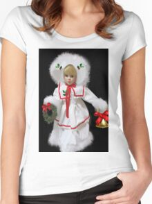 ☆ ★GETTING READY FOR CHRISTMAS IN THE VALLEY VARIOUS APPAREL ☆ ★ Women's Fitted Scoop T-Shirt