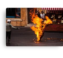 Fiery Day Canvas Print