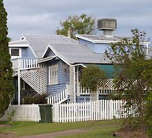 ''Old Queenslander' House, 'Monto' country town, Queensland. by Rita Blom
