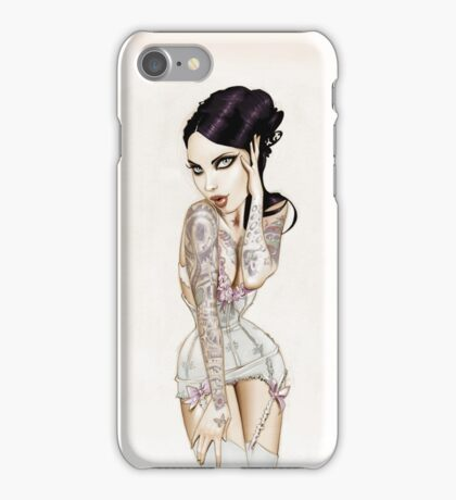 Illustrated Lady iPhone Case/Skin