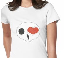 heart eyed skull... Womens Fitted T-Shirt
