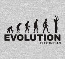 Evolution of an electrician T-Shirt