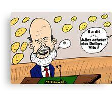 Ben Bernanke caricature Canvas Print
