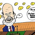 Ben Bernanke editorial cartoon by Binary-Options
