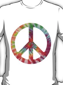 Tie Dye 2 Peace Sign T-Shirt