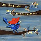 RED HAT by Lisa Frances Judd~QuirkyHappyArt