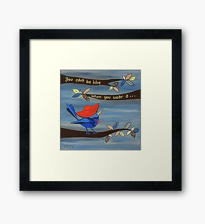 RED HAT Framed Print
