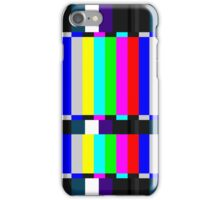 TV Coloured Bars iPhone Case/Skin
