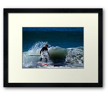 Stand Up Paddle Board Action Framed Print