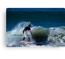 Stand Up Paddle Board Action Canvas Print
