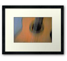 guitarra.. Framed Print