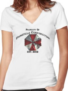 Property of Umbrella Corp Women's Fitted V-Neck T-Shirt