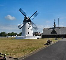 The windmill in Lytham St Annes. by ronsaunders47