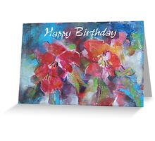 Happy Birthday Flowers Painting Greeting Card Greeting Card