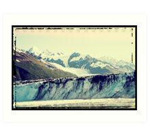 Analog Alaskan Glaciers Art Print