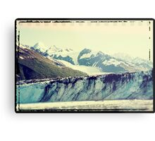 Analog Alaskan Glaciers Metal Print