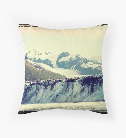 Analog Alaskan Glaciers Throw Pillow