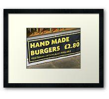 Hand Or Veg Framed Print