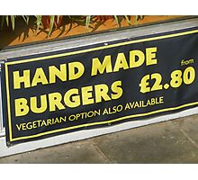 Hand Or Veg Photographic Print