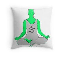 Yoga-Tshirt Throw Pillow