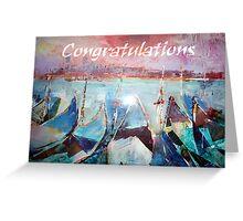 Gondolas Venice Italy - Congratulations Greeting Card Greeting Card