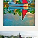 Red Staysail, Stonington, Maine by Dave  Higgins
