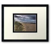 Dull Day at The Sea Framed Print