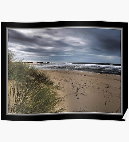 Dull Day at The Sea Poster