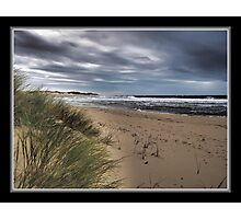 Dull Day at The Sea Photographic Print